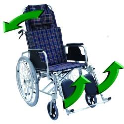 Scaun cu rotile spatar, suporti picioare reglabili